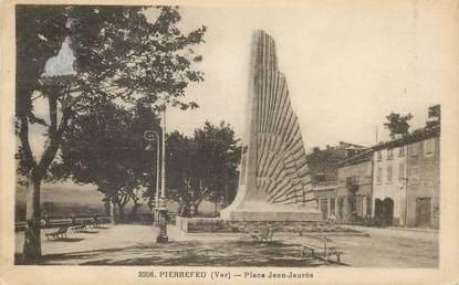 """CPA FRANCE 83 """"Pierrefeu, Place Jean Jaurès"""""""