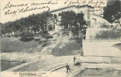 """CPA FRANCE 83 """"St Salvadour, La jetée""""."""