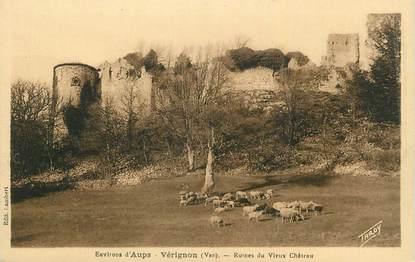"CPA FRANCE 83 ""Vérignon, Ruines du vieux château""."