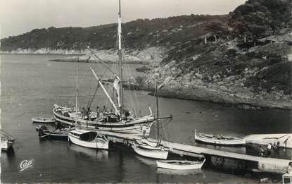 """CPSM FRANCE 83 """" Ile du Levant, Le port du grand Avis""""."""