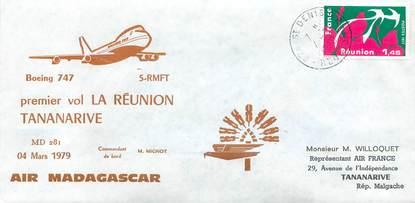 "LETTRE 1 ER VOL FRANCE ""La Réunion / Tananarive, 4 mars 1979"""