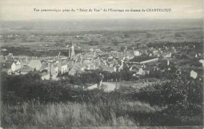 """CPA FRANCE 78 """"Triel, Vue panoramique prise du point de vue de l'Ermitage au-dessus de Chanteloup""""."""