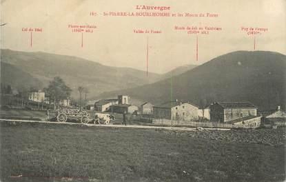 """CPA FRANCE 63 """"St Pierre la Bourlhomme, Les Monts du Forez""""."""