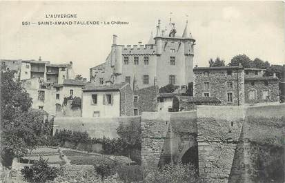 "CPA FRANCE 63 ""St Amand Tallende, Le château""."