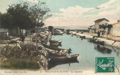 """CPA FRANCE 34 """"Palavas les Flots, La Canalette""""."""
