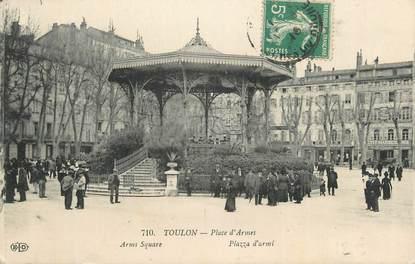 """CPA FRANCE 83 """" Toulon, Place d'Armes""""."""