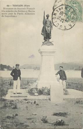 """CPA FRANCE 83 """" Toulon, Monument aux morts""""./ GUERRE DE 1870"""