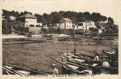 """CPA FRANCE 83 """"Sablettes les Bains, Les barques de pêche à St Elme""""."""