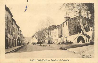 "CPA FRANCE 83 ""Barjols, Boulevard Grisolle""."