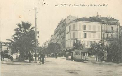 """CPA FRANCE 83 """"Toulon, Place Vauban, Boulevard de Tessé""""."""