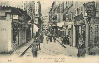 """CPA FRANCE 83 """"Toulon, Rue d'Alger""""."""