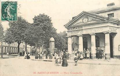 "CPA FRANCE 02 ""Saint Quentin, Place Crommelin"""