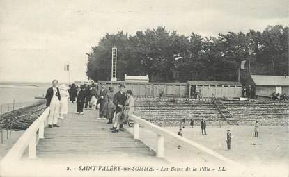 """CPA FRANCE 80 """"St Valéry sur Somme, Les bains de la ville""""."""