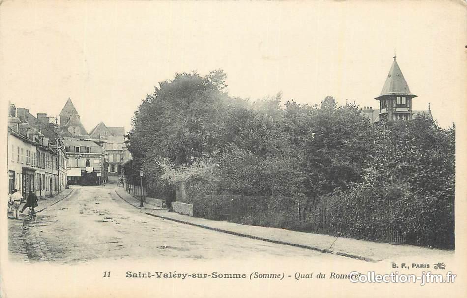 Cpa france 80 st val ry sur somme quai du romerel 80 somme saint val ry sur somme 80 - Saint valery sur somme office du tourisme ...