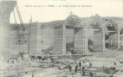"""CPA FRANCE 80 """" Poix, Viaduc détruit""""."""