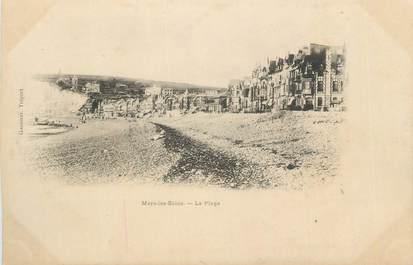 """CPA FRANCE 80 """"Mers les Bains, La plage""""."""