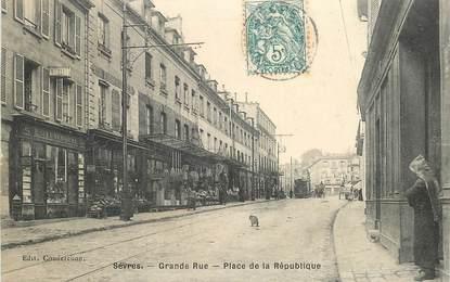 """CPA FRANCE 92 """"Sèvres, Place de la République, Grande rue"""""""