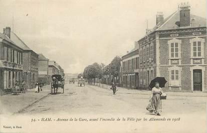 "CPA FRANCE 80 "" Ham, Avenue de la gare""."