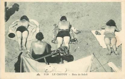 "CPA FRANCE 80 ""Le Crotoy, Baiin de soleil""."