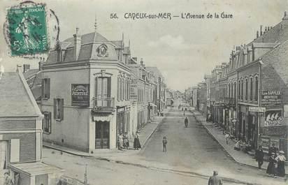 """CPA FRANCE 80 """"Cayeux sur Mer, L'avenue de la gare""""."""
