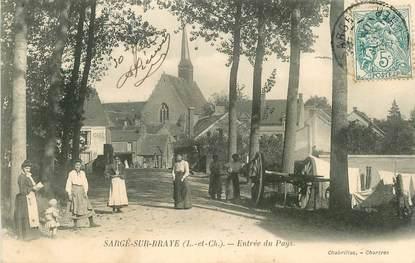 """CPA FRANCE 41 """"Sargé sur Braye, entrée du Pays"""""""