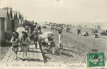 """CPA FRANCE 80 """"Cayeux sur Mer, Un coin de la plage à marée basse""""."""
