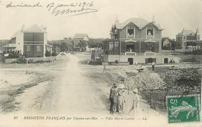 "CPA FRANCE 80 ""Cayeux sur Mer, Villa Marie-Louise""."