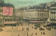 """75 Pari CPA FRANCE 75001 """"Paris, Place de l'Hotel de Ville et la rue de Rivoli"""""""