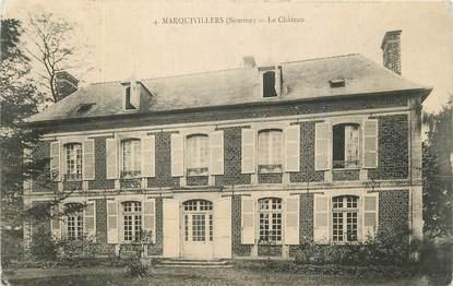 "CPA FRANCE 80 ""Marquivillers, Le château""."