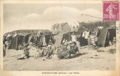 "CPA FRANCE 80 ""Quend Plage, Les tentes""."