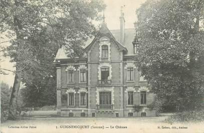 """CPA FRANCE 80 """"Guignemicourt, Le château"""""""