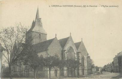 "CPA FRANCE 80 ""Lihons en Santerre, L'église""."