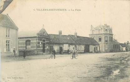 """CPA FRANCE 80 """"Villers Bretonneux, La Poste""""."""