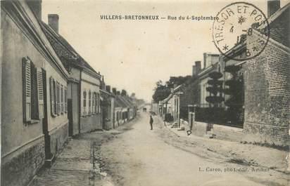 """CPA FRANCE 80 """"Villers Bretonneux, Rue du 4 Septembre""""."""
