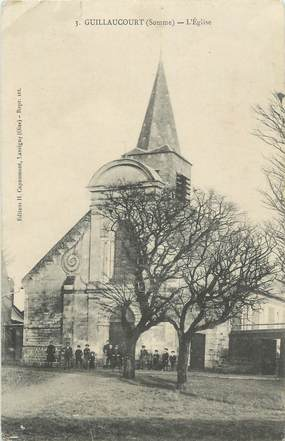 "CPA FRANCE 80 ""Guillaucourt, L'église""."