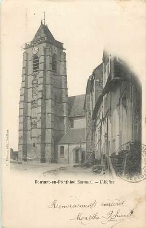 """CPA FRANCE 80 """"Domart en Ponthieu, L'église""""."""