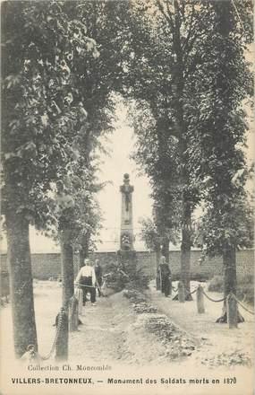 """CPA FRANCE 80 """" Villers Bretonneux, Monument aux morts"""". / GUERRE DE 1870"""