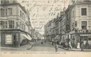 """80 Somme CPA FRANCE 80 """"Abbeville, La rue St Gilles à la place de l'Amiral Courbet""""."""