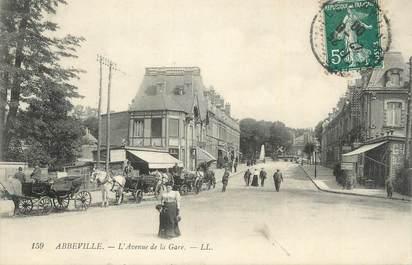 """CPA FRANCE 80 """"Abbeville, Avenue de la gare""""."""