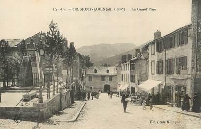 """CPA FRANCE 66 """"Mont Louis, La grande rue""""."""