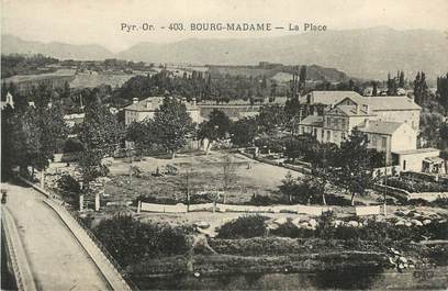 "CPA FRANCE 66 ""Bourg Madame, La place""."