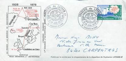 """LETTRE 1 ER VOL / FRANCE """"Caudebec en Caux / Bergen, 17 juin 1978"""""""