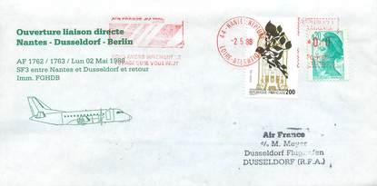 "LETTRE 1 ER VOL / FRANCE ""Nantes / Dusseldorf / Berlin, 2 mai 1988"""