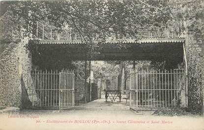 """CPA FRANCE 66 """"Le Boulou, Source Clémentine et St Martin""""."""