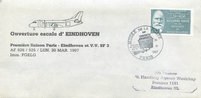 "LETTRE 1 ER VOL / FRANCE ""Paris / Eindhoven, 30 mars 1987"""