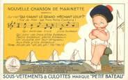 Illustrateur CPA ILLUSTRATEUR B. MALLET / PETIT BATEAU / PUBLICITÉ