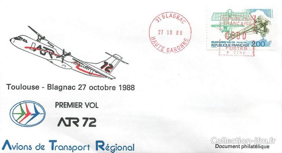 lettre 1 er vol france toulouse blagnac 27 octobre 1988 1 er vol france ref 140321. Black Bedroom Furniture Sets. Home Design Ideas
