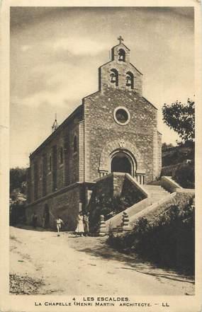 """CPA FRANCE 66 """" Les Escaldes, La chapelle""""."""
