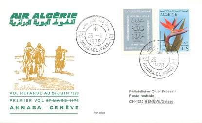 """LETTRE 1 ER VOL / """"Air Algérie, Annaba / Genève, 26 juin 1978"""""""