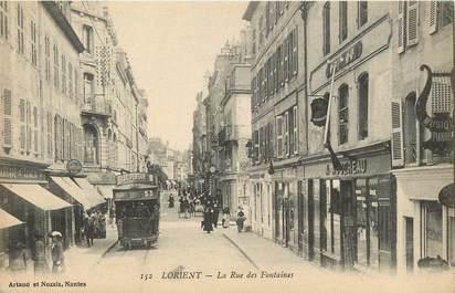 """CPA FRANCE 56 """"Lorient, La rue des Fontaines"""""""